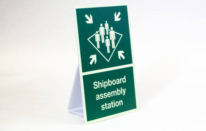 maritime signs - shipboard assembly