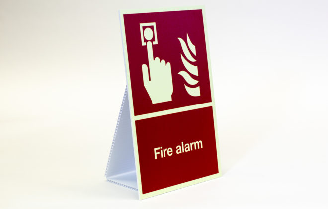 photo luminous signs - fire alarm