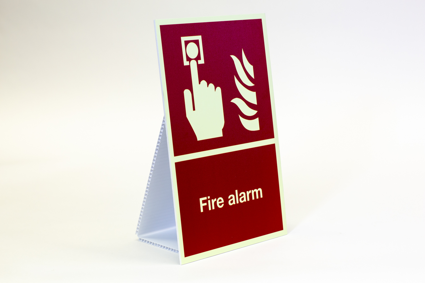 photo luminous signs - fire alarm