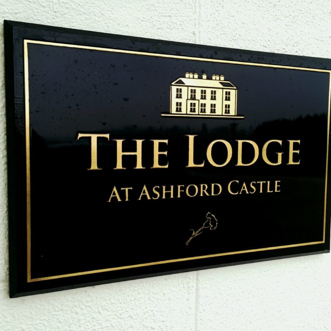 plaques - brass - reverse etched - ashford