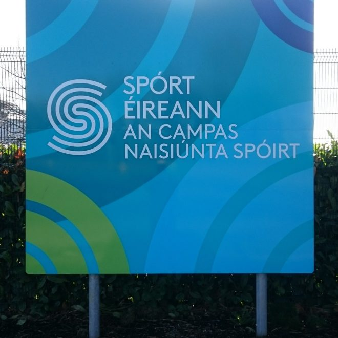pole-mounted and free-standing signs - sport ireland