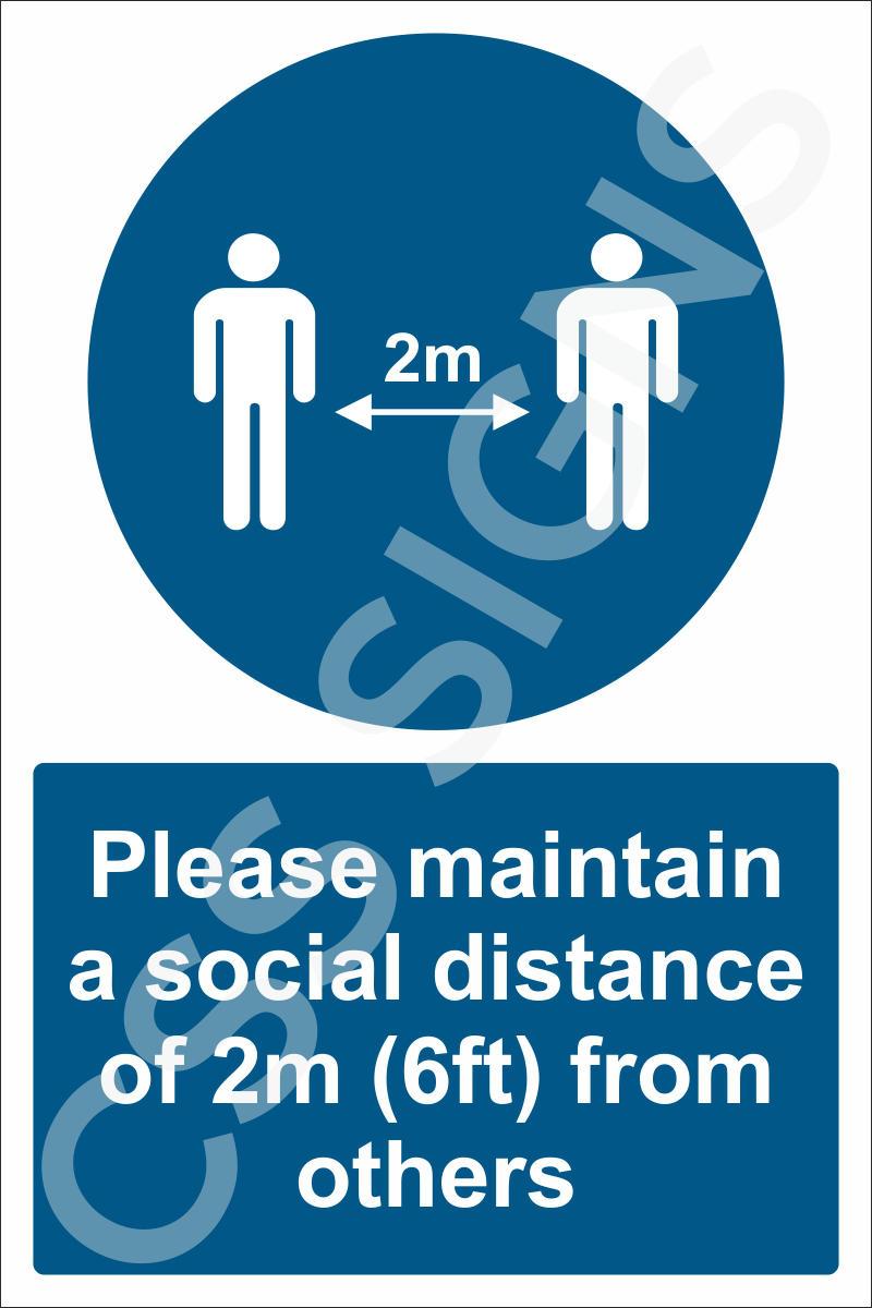 Please maintain social distance