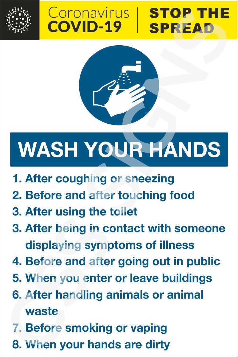 Coronavirus Hand Washing Times