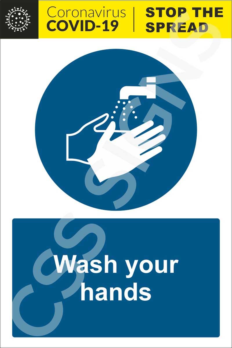 Coronavirus - Wash Your Hands Sign