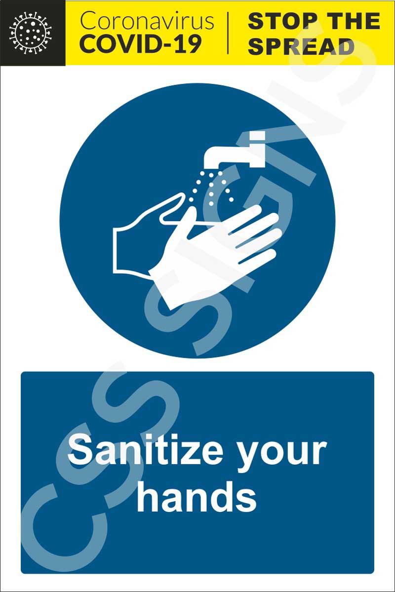 Coronavirus - Sanitize Your Hands Sign