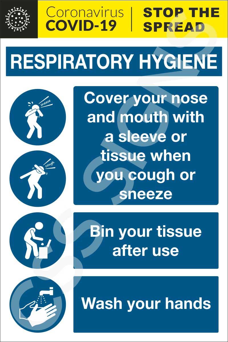 Coronavirus - Respiratory Hygiene Sign