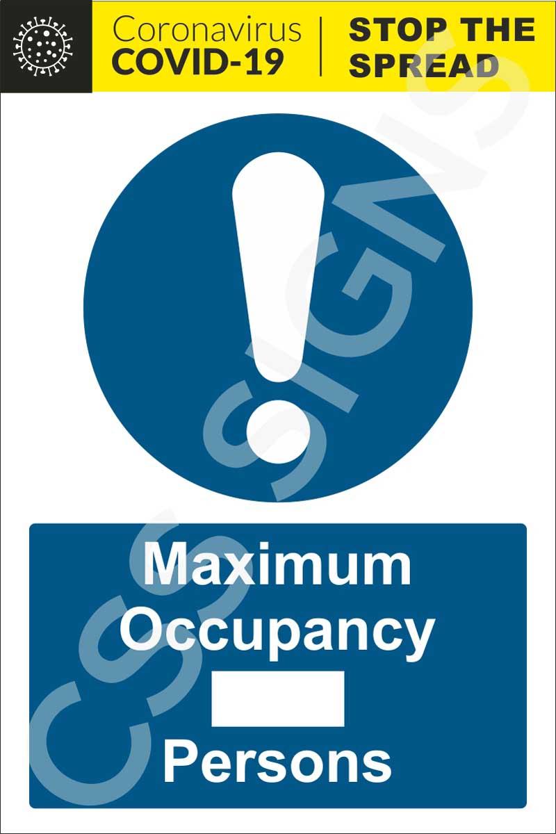 Coronavirus - Maximum Occupancy Sign