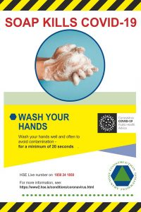 Coronavirus - Soap Kills COVID-19 (CIF) Sign